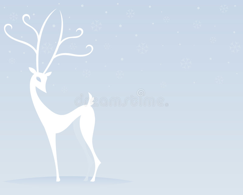 Reindeer in White stock images