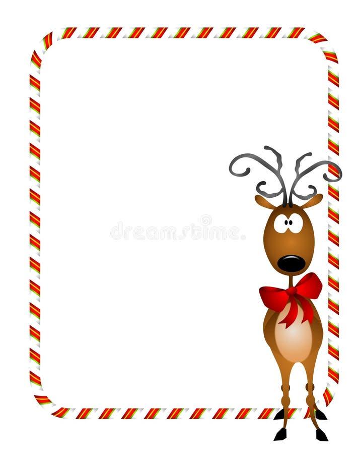 Reindeer Xmas Border royalty free illustration