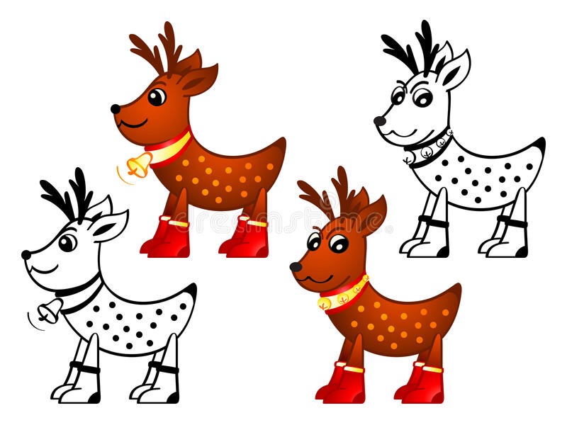 Download Reindeers stock vector. Illustration of animal, mammal - 21521452