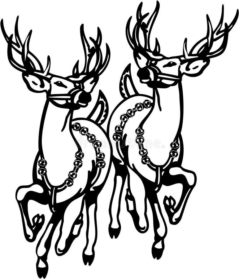 Reindeers vector illustration