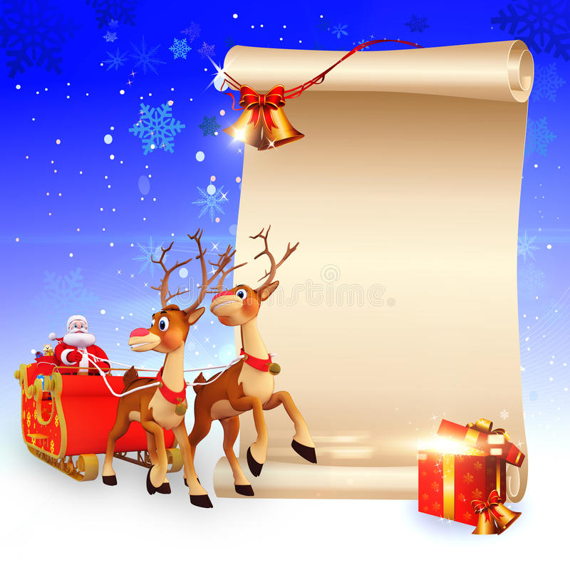 Download Reindeers Is Jumping On The Sign Stock Illustration - Image: 26672529