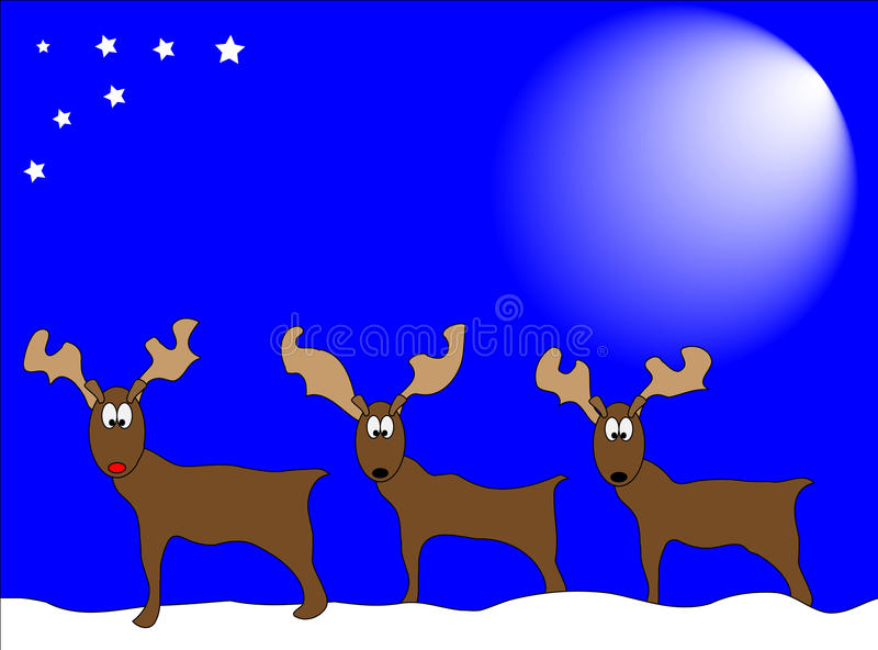 Download Reindeers In Snow Royalty Free Stock Photography - Image: 10964787