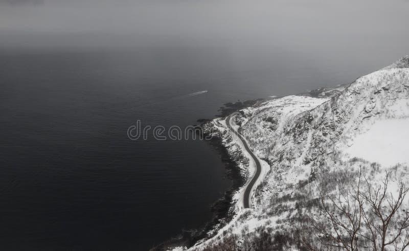 Reine Aerial nevado foto de stock royalty free