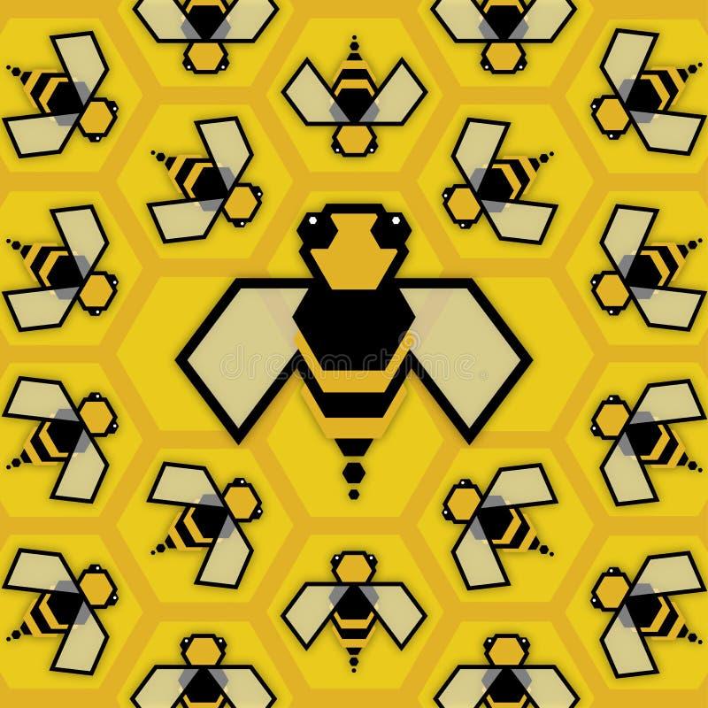 Reine d'abeille illustration libre de droits