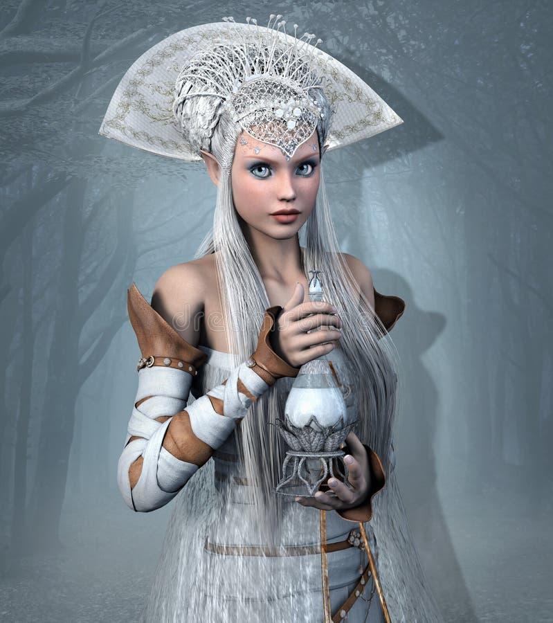 Reine d'Elf avec le breuvage magique d'élixir illustration libre de droits