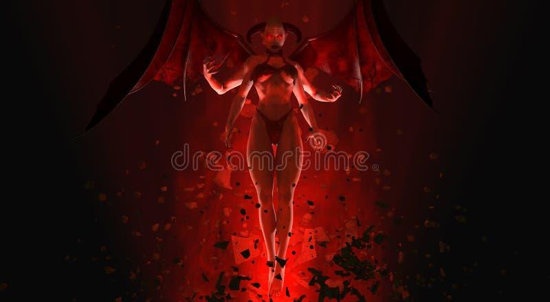 Reine de démon illustration libre de droits