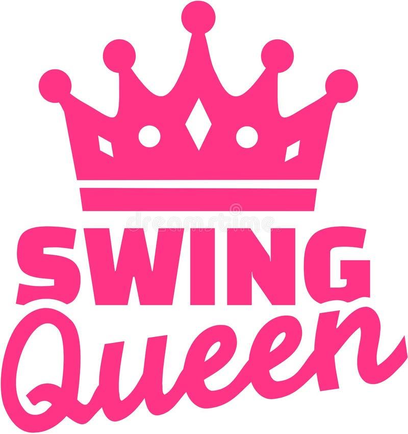 Reine de danse d'oscillation avec la couronne illustration stock
