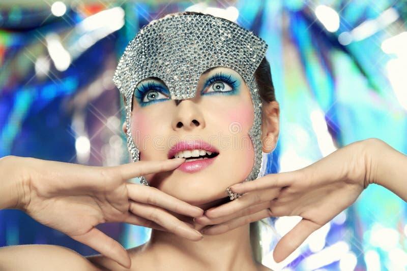 Reine de disco images libres de droits