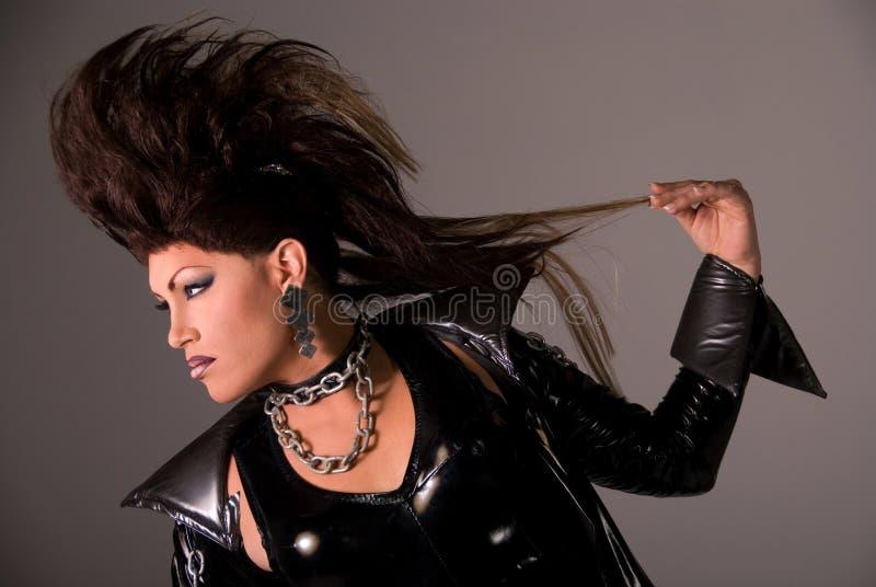 Reine de frottement avec le Mohawk. photographie stock