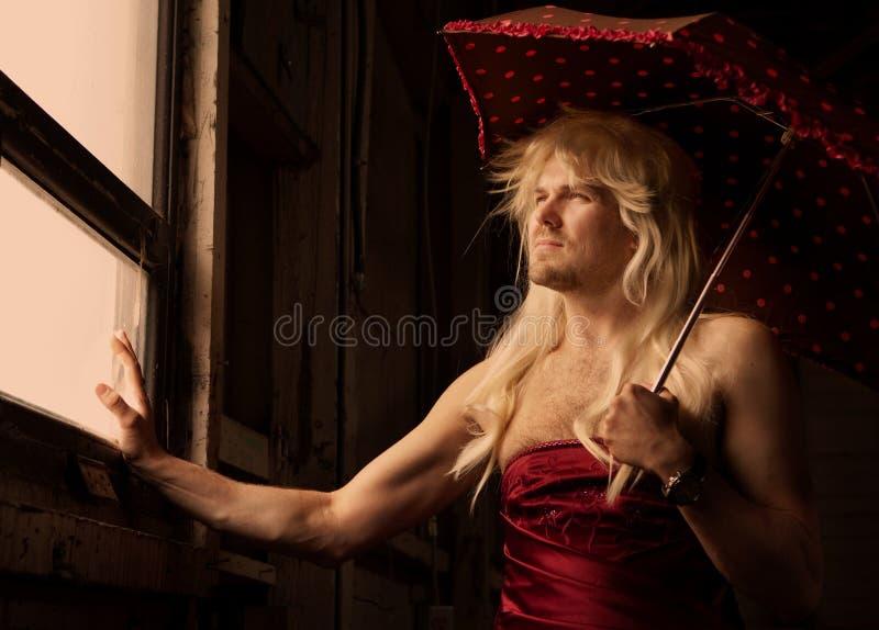 Reine de frottement dans un asile photographie stock libre de droits