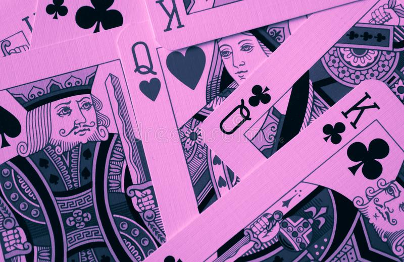Reine de macro rouge de coeurs, cartes de cartomancie Ri mystique de carte photos libres de droits