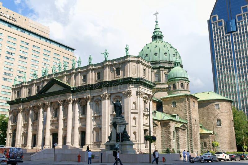 Reine de Mary de la cathédrale du monde, Montréal photo libre de droits