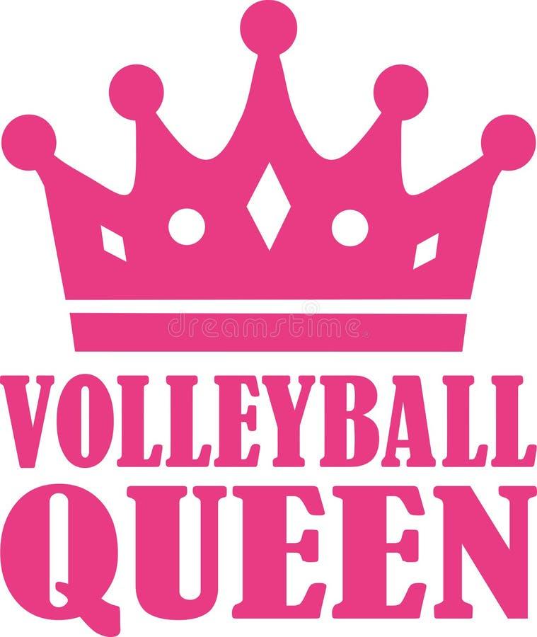 Reine de volleyball illustration libre de droits