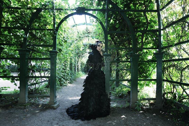 Reine foncée en parc photos stock