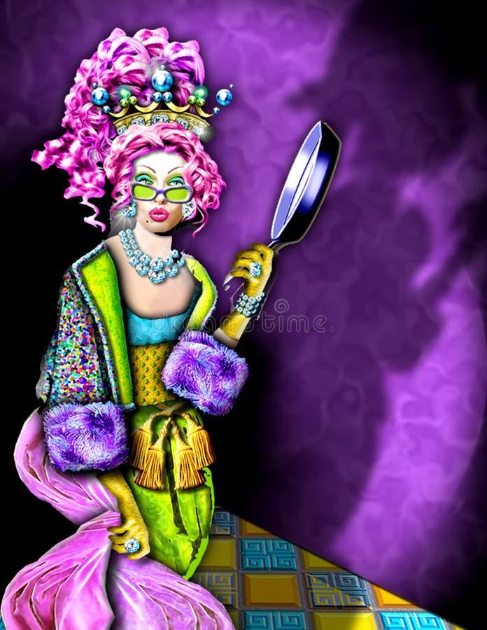reine jeweled folle illustration stock