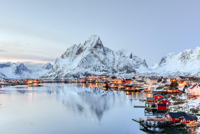 Reine, Lofoten-Inseln, Norwegen stockbilder