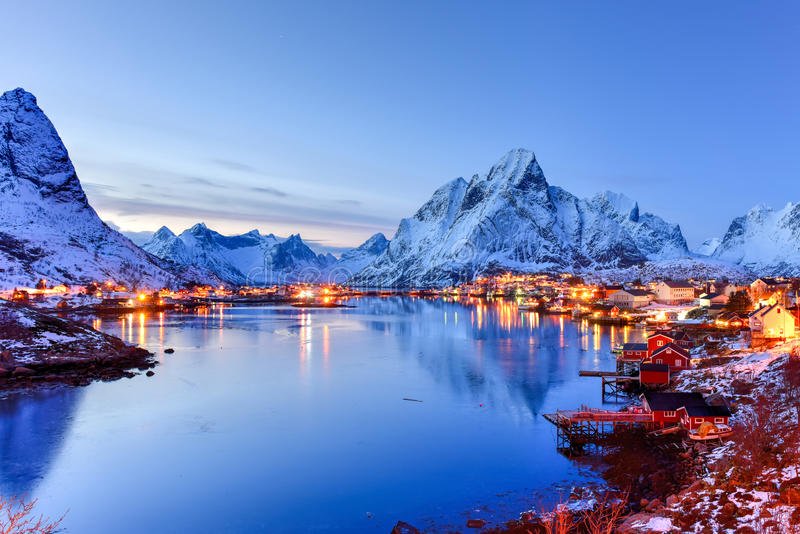 Reine, Lofoten Islands, Norway royalty free stock photo