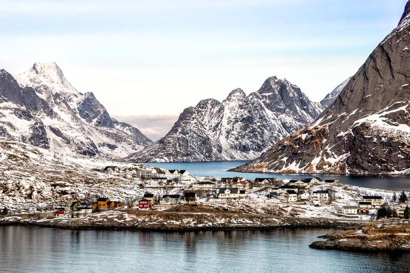 Reine, Lofoten, Noorwegen royalty-vrije stock foto