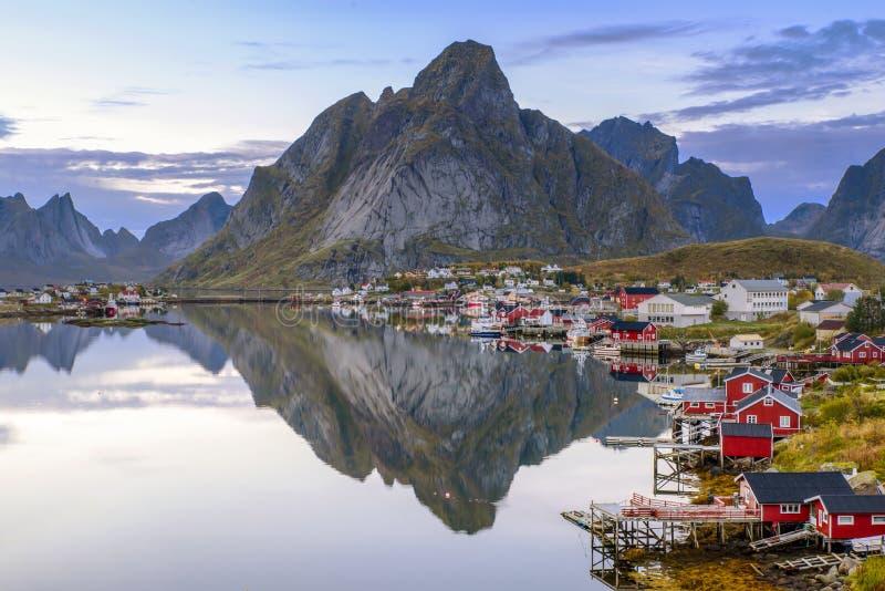 Reine, Lofoten, Norvegia fotografia stock libera da diritti