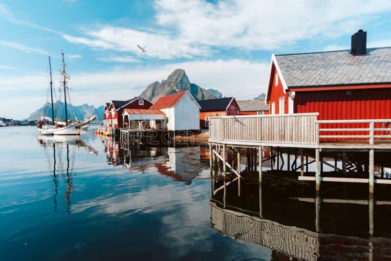 Reine miasteczko w Norwegia zdjęcie royalty free