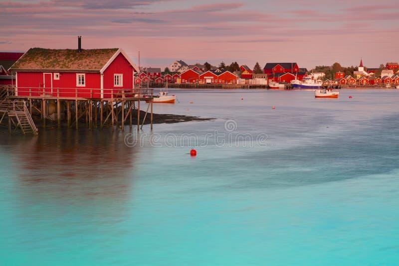 Reine in Norvegia fotografie stock libere da diritti