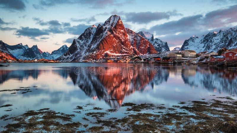 Reine, Norwegia fotografia stock