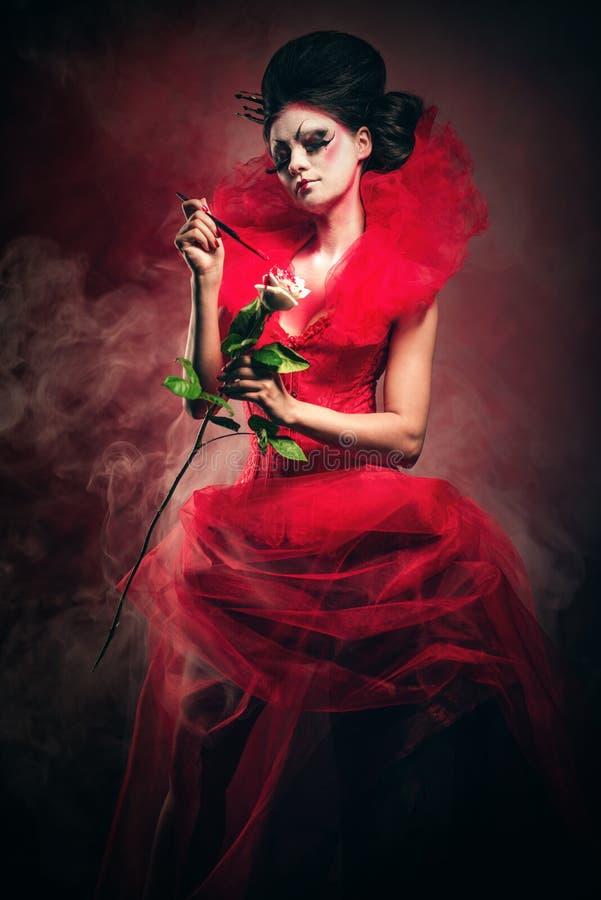 Reine rouge photographie stock