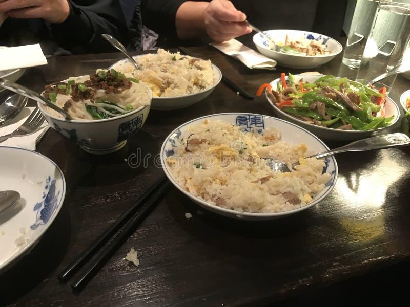 Reine Spekulation eines chinesischen Abendessens stockbild
