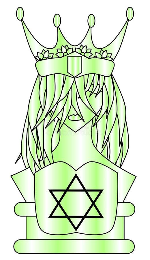 Reine stylisée avec l'étoile de roi David illustration libre de droits