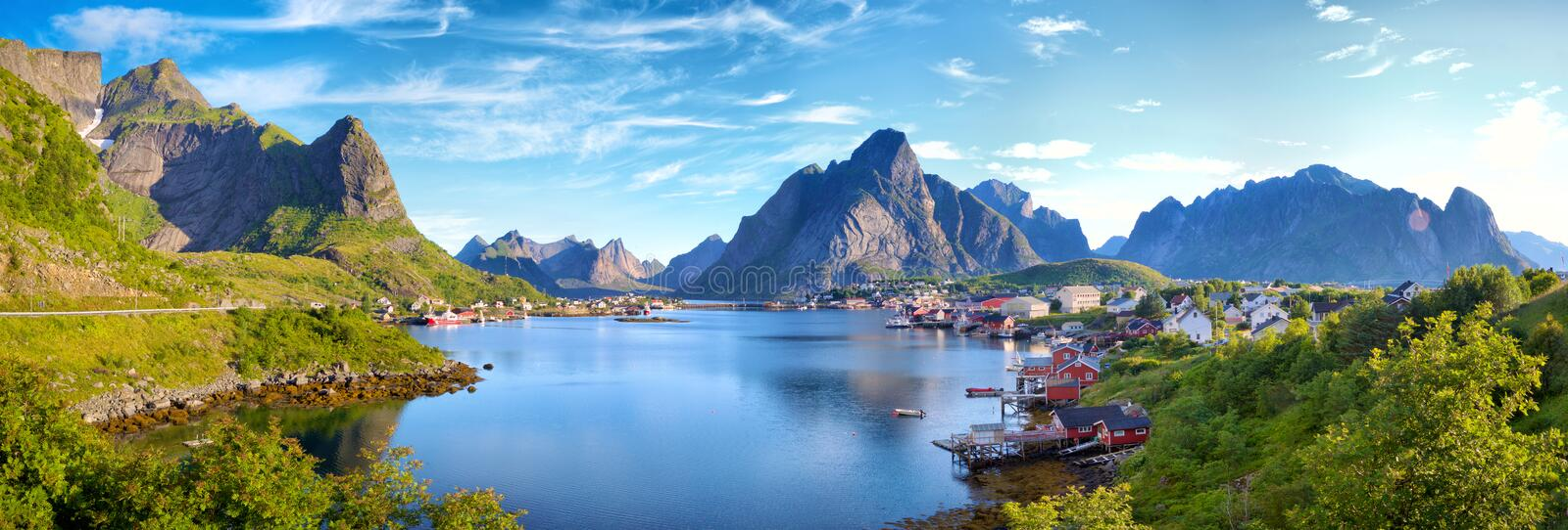 Reine Village in Lofoten Islands stock fotografie