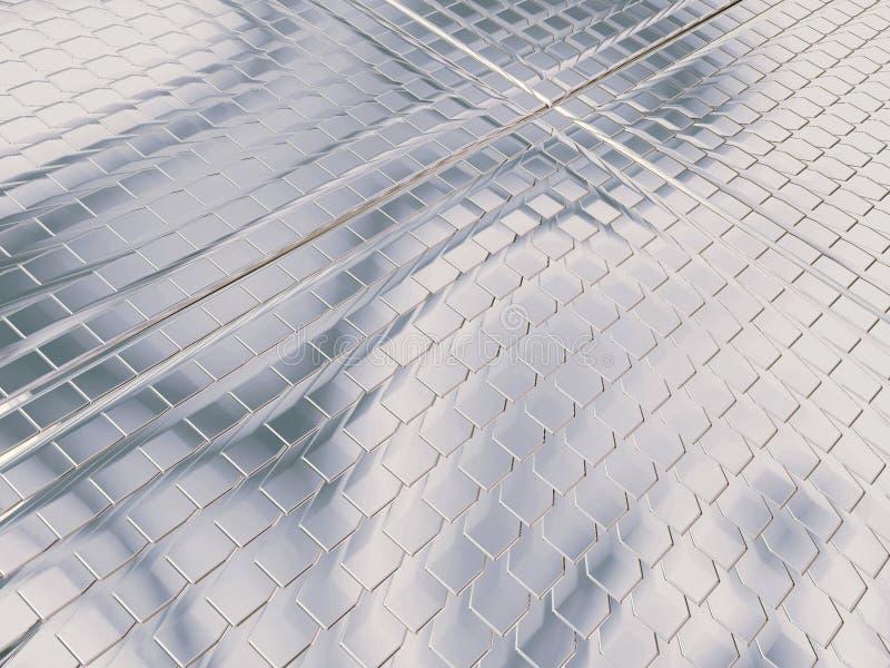 Reiner silberner Platz stock abbildung