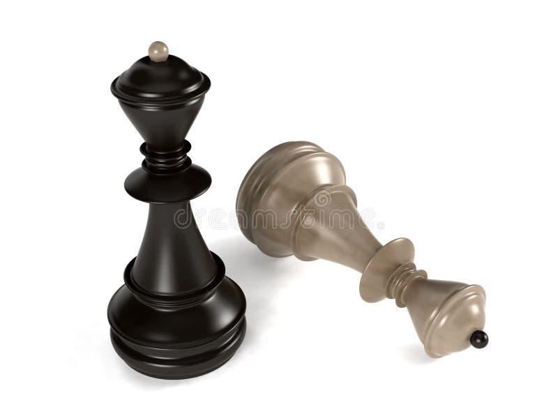 Reines d'échecs illustration libre de droits