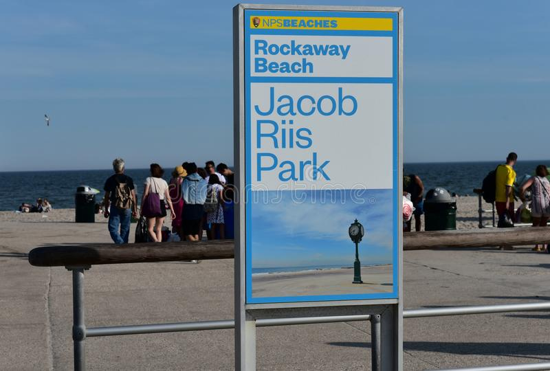 Reines de plage de parc de riis de New York City Jacob de fuite images stock