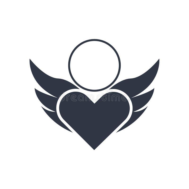 Reines Liebesikonenvektorzeichen und -symbol lokalisiert auf weißem Hintergrund, reines Liebeslogokonzept vektor abbildung