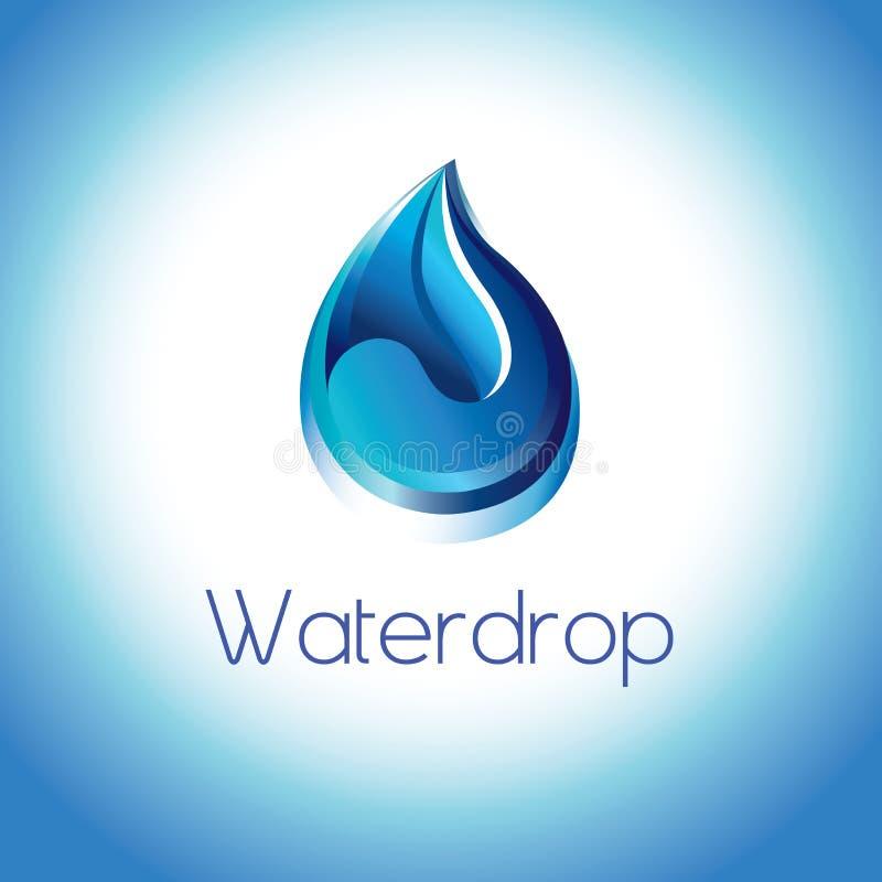 Reines Wassertröpfchen lizenzfreie abbildung