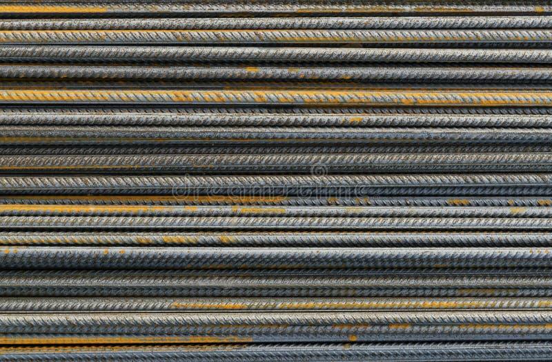 Reinforce steel iron rod royalty free stock image