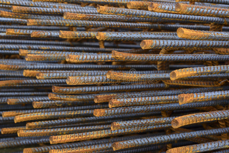 Reinforce steel iron rod. Steel rods used to reinforcement concrete stock photography