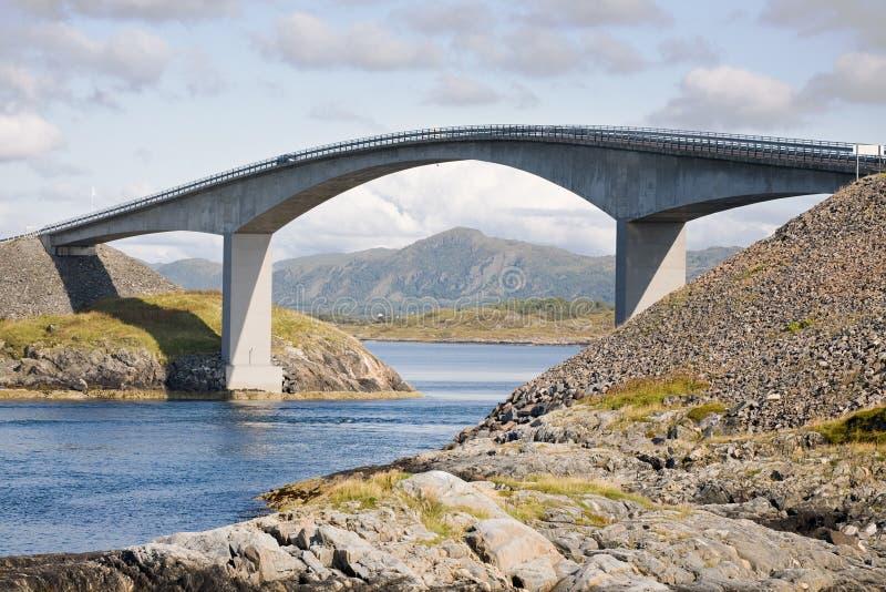 Reinforced concrete bridge royalty free stock images