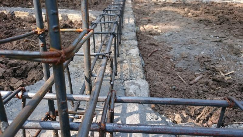 Reinforced concrete. Conventional reinforeced. Reinforced concrete. Building frame. Conventional reinforeced royalty free stock photography