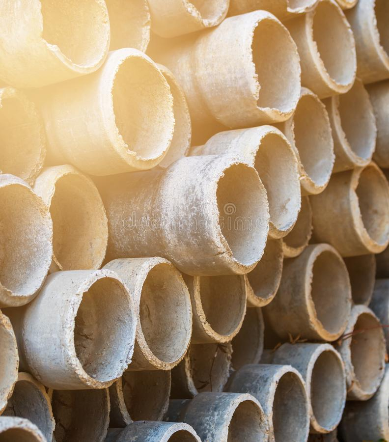 Reinforced concrete pipe royalty free stock photography