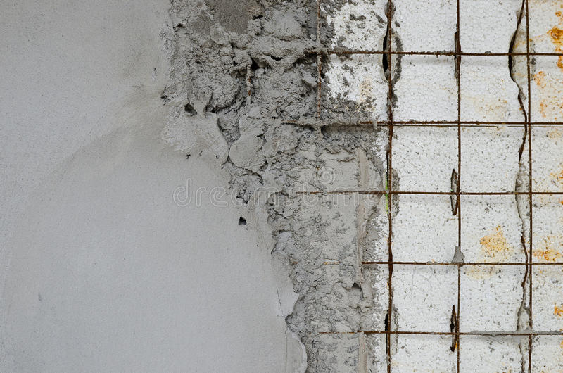 Reinforced concrete walls within the styrofoam stock photo for Styrofoam concrete walls