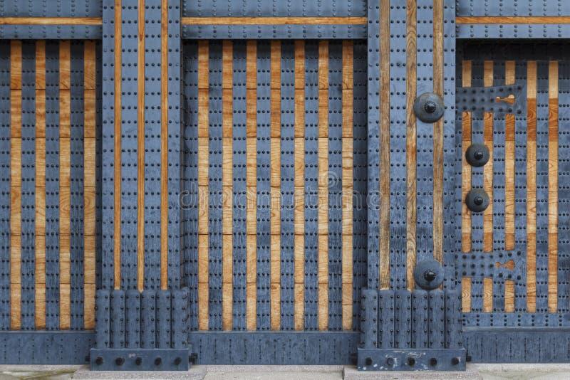 Download Reinforced Wooden Door With Metallic Rivets Stock Image - Image of door rough & Reinforced Wooden Door With Metallic Rivets Stock Image - Image of ...