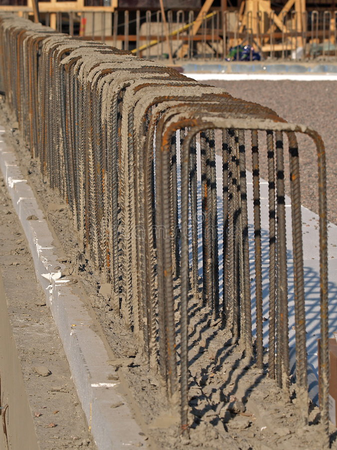 Reinforcement rods for concrete pouring royalty free stock photography