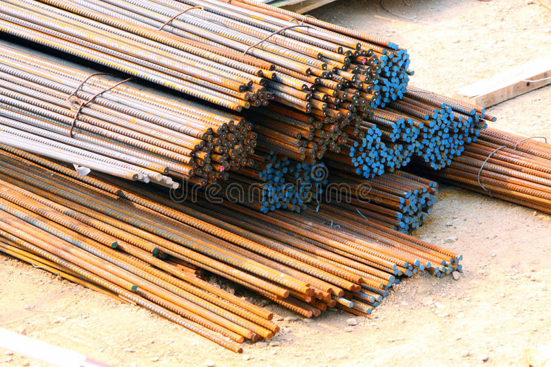 Download Reinforcing Bar stock photo. Image of bars, ends, site - 19035152