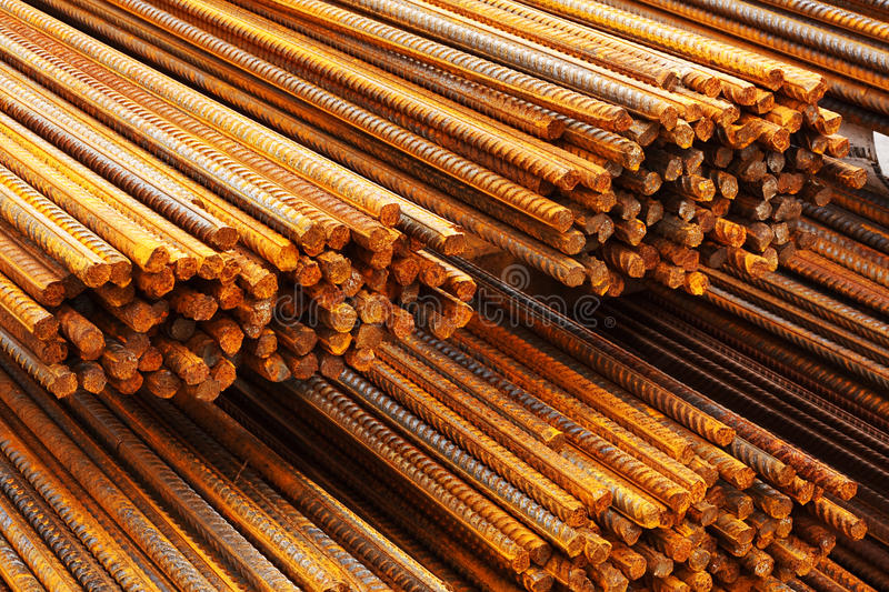 Reinforcing steel bars or rebar royalty free stock images