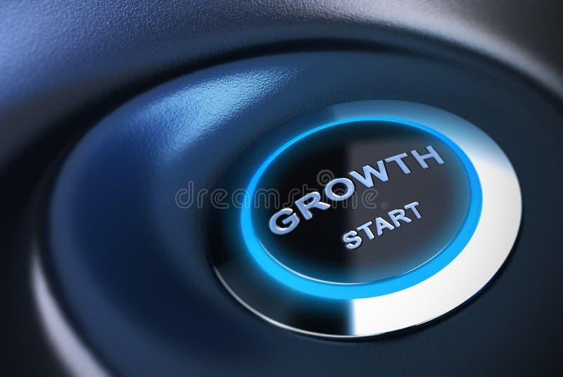 Reiniciando ou estimule a economia, motor de crescimento ilustração stock