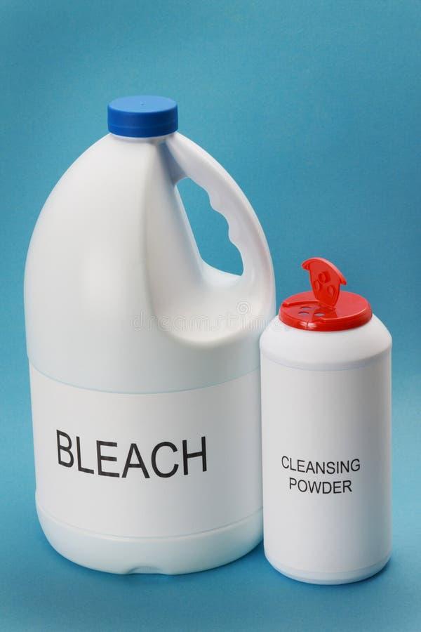 Reinigenpuder und Chlorid lizenzfreies stockbild
