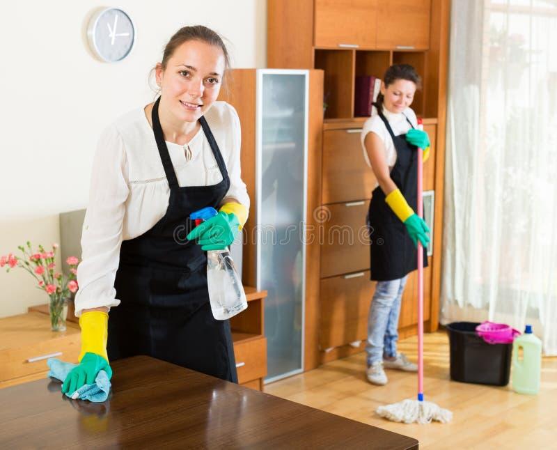 Reiniger, die Wohnung waschen lizenzfreie stockbilder
