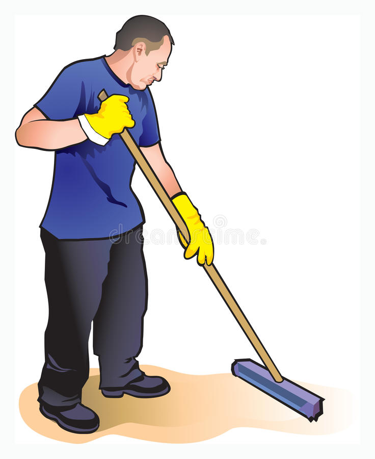 Reinigingsmachine stock illustratie