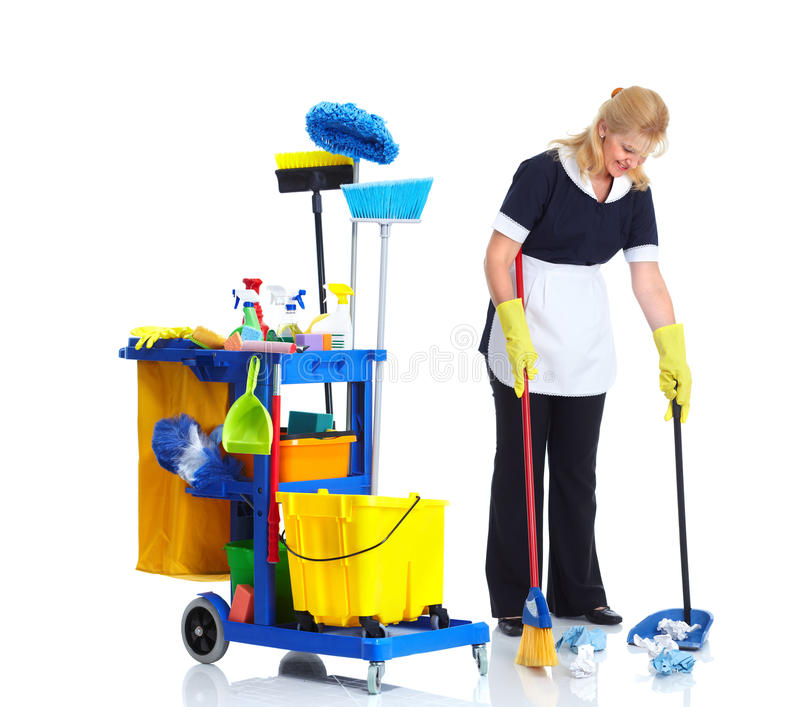 Reinigingsmachine. royalty-vrije stock afbeelding